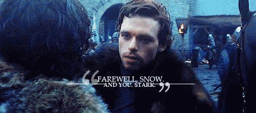 Robb Stark bid Farewell to Jon snow