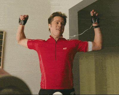 Brad Pitt Excited dance