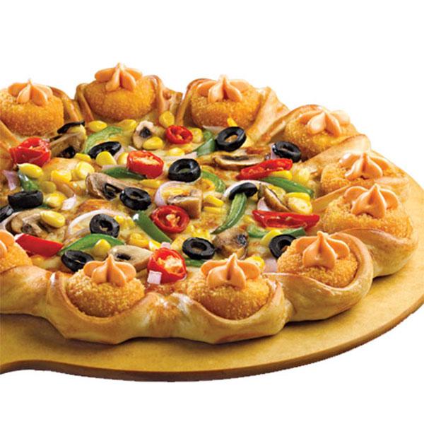 Veg kabab Indian Pizza