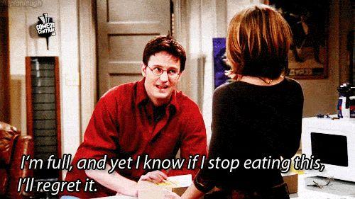 Chandler and food
